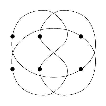 Thrackle embedding of the hexagon (drawing)